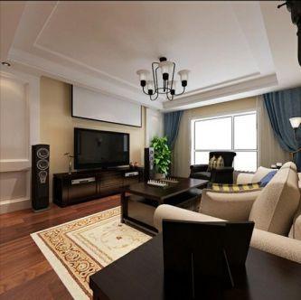 美式风格165平米四室两厅新房装修效果图