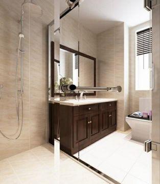 浴室洗漱台美式风格装潢设计图片