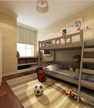 儿童房床美式风格装修效果图