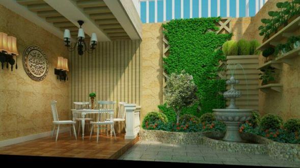 阳台地砖简欧风格装潢设计图片