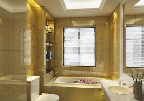 浴室浴缸简欧风格效果图