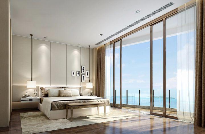 卧室背景墙日式风格装潢图片