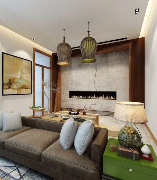 客厅沙发日式风格装饰设计图片