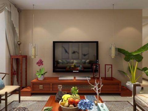 客厅电视柜新中式风格装饰设计图片