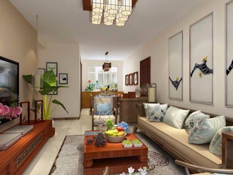 客厅沙发新中式风格装修效果图