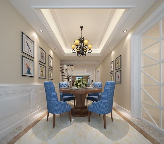 欧式风格300平米别墅新房装修效果图