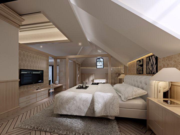 卧室白色电视柜现代简约风格装潢图片