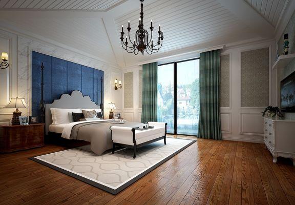 卧室白色吊顶简欧风格装修效果图