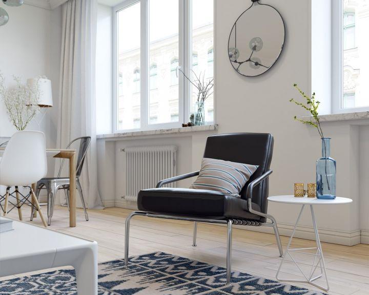 客厅地板砖北欧风格装潢设计图片