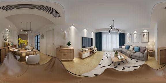 客厅白色细节北欧风格装修设计图片