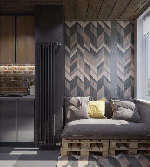 阳台沙发混搭风格装修设计图片