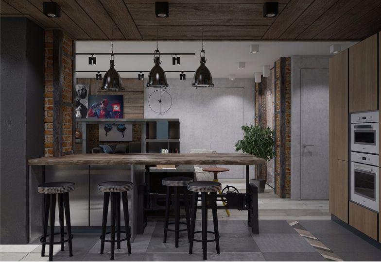 餐厅吧台混搭风格装潢设计图片