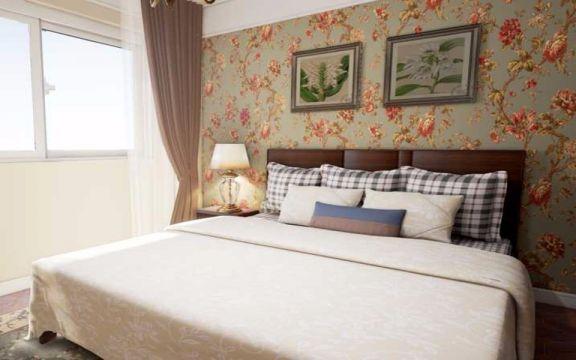 卧室咖啡色床美式风格装修效果图