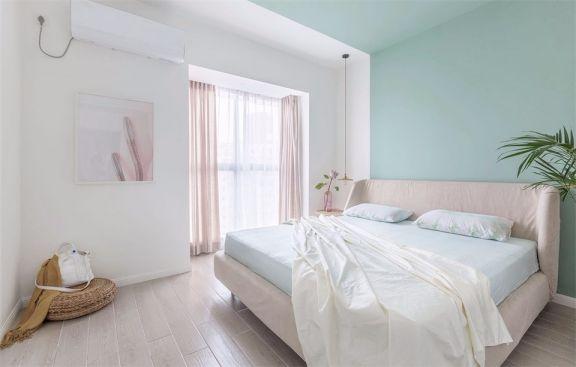 卧室粉色床北欧风格效果图