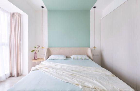 卧室粉色床北欧风格装饰效果图