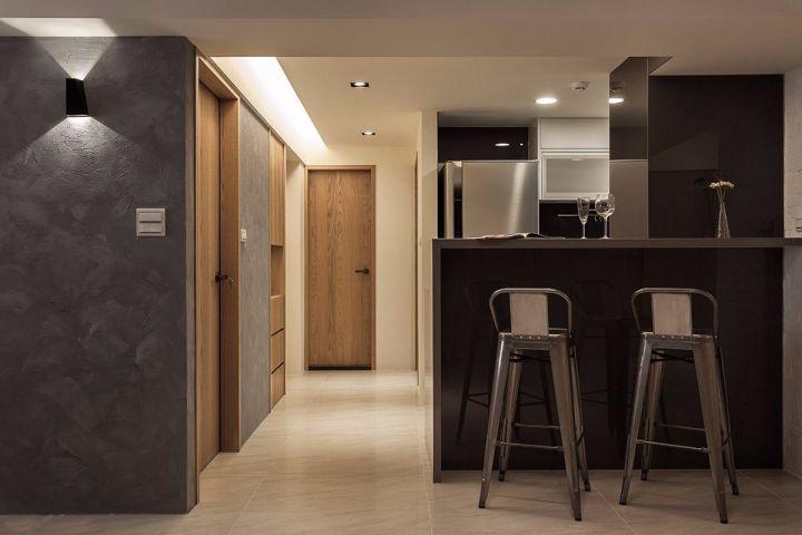 厨房灰色吧台现代简约风格装饰图片