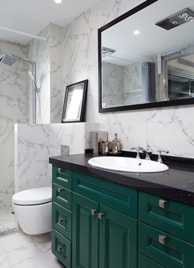 浴室地板砖美式风格装潢效果图