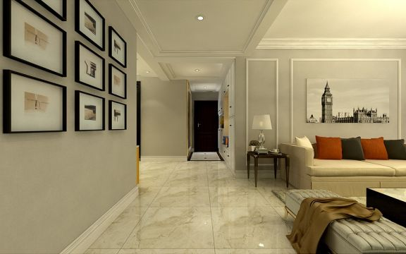 客厅细节简欧风格效果图