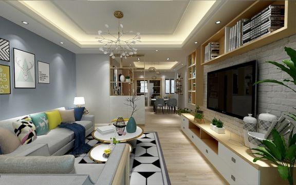 90平方米简约风格二居室米兰印象装修效果图