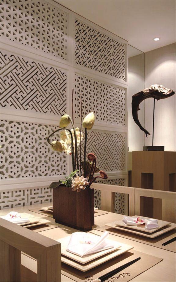 餐厅细节新中式风格装饰图片