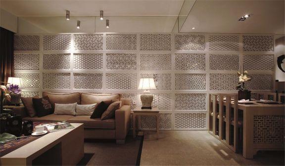 客厅隔断新中式风格装潢图片