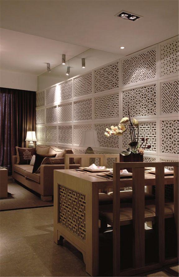 客厅隔断新中式风格装饰设计图片