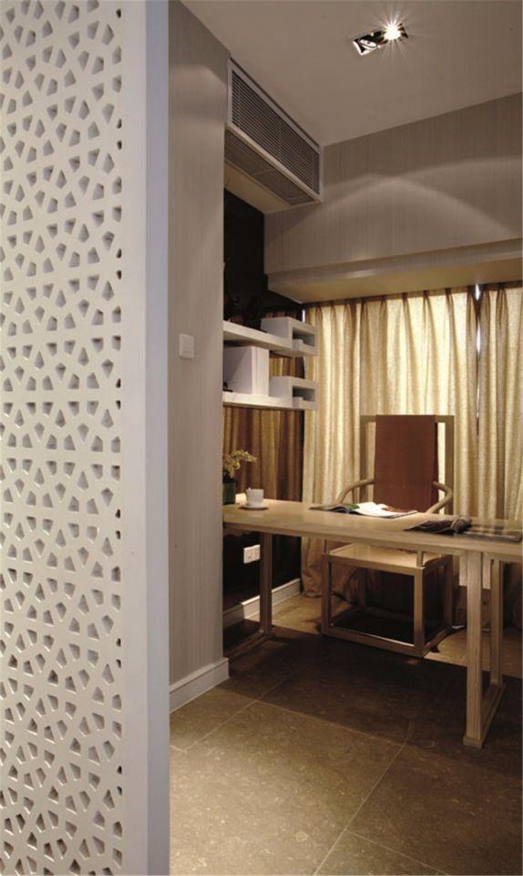 书房窗帘新中式风格效果图