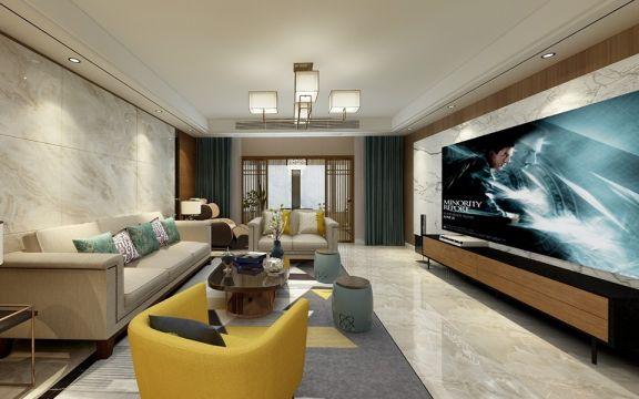 混搭风格143平米两室两厅新房装修效果图