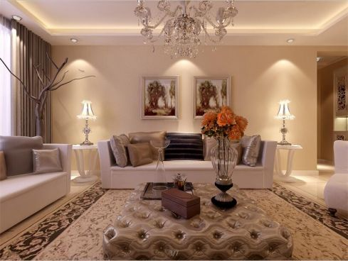 149平米欧式风格三居室装修效果图