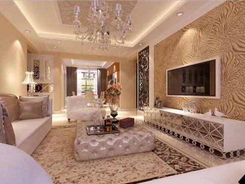 欧式风格149平米三室两厅新房装修效果图