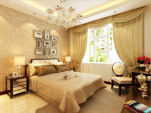 卧室米色照片墙欧式风格装修设计图片