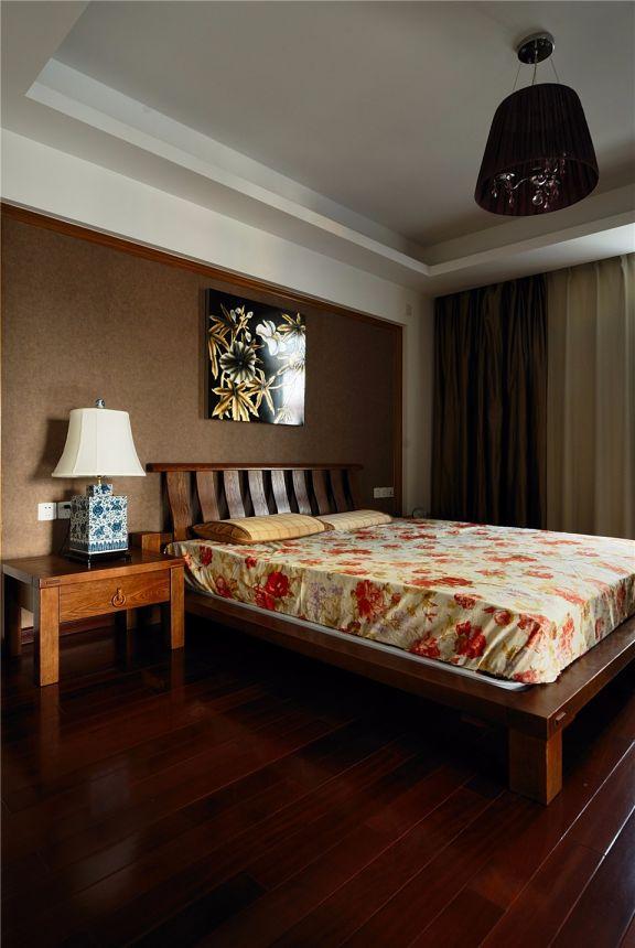 卧室彩色细节新中式风格装饰图片