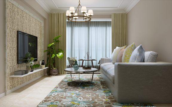 客厅灰色沙发简约风格装潢图片