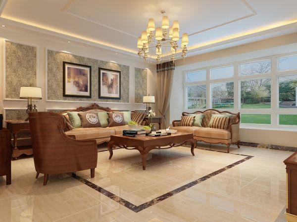 客厅白色照片墙欧式风格装修图片