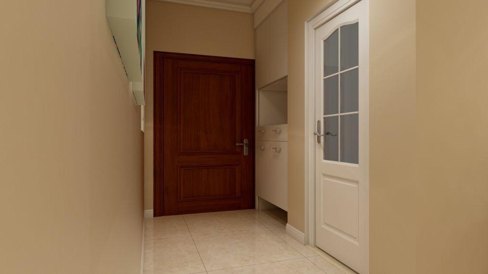 玄关进门鞋柜繁复家装设计图