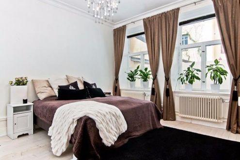 卧室灰色床简约风格装潢效果图