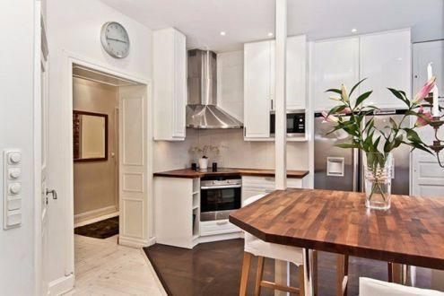 厨房白色厨房岛台简约风格装修设计图片