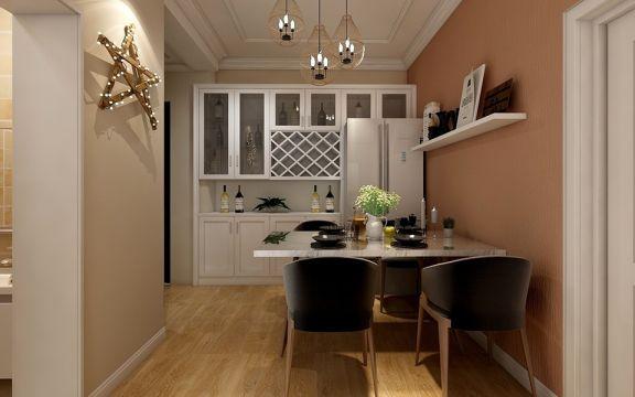 餐厅白色餐桌简约风格装修效果图