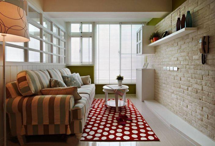 乡村风格86平米两室两厅新房装修效果图