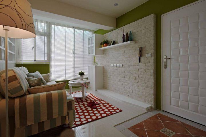 客厅彩色地板砖简约风格装修效果图