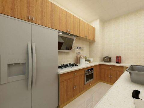 厨房橙色橱柜现代风格装修效果图