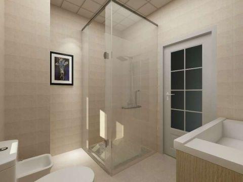 浴室黄色隐形门现代风格装饰效果图