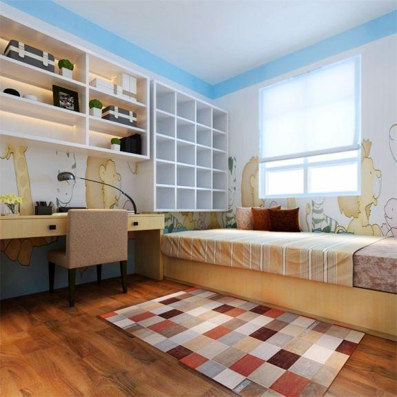 书房米色榻榻米现代简约风格装潢图片