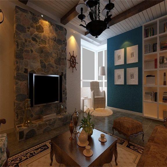 128平米美式乡村风格三居室装修效果图
