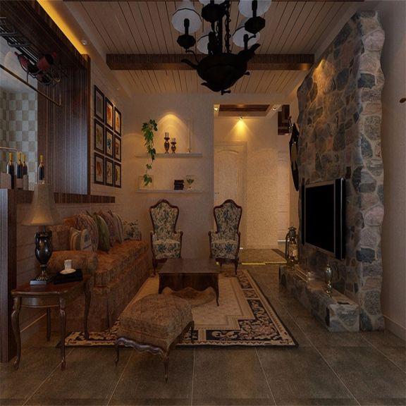 乡村风格128平米三室两厅新房装修效果图
