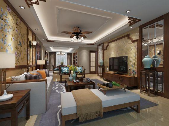 8万预算160平米三室两厅装修效果图