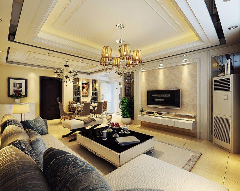2021新古典240平米装修图片 2021新古典三居室装修设计图片