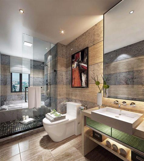 卫生间洗漱台新中式风格装饰图片