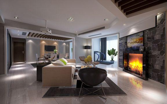 后现代风格180平米两室两厅新房装修效果图