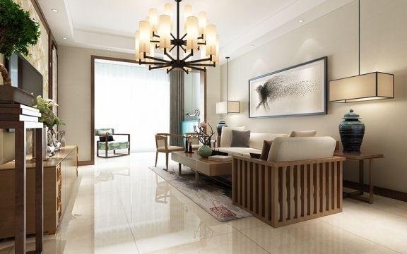 新中式风格260平米复式室内装修效果图